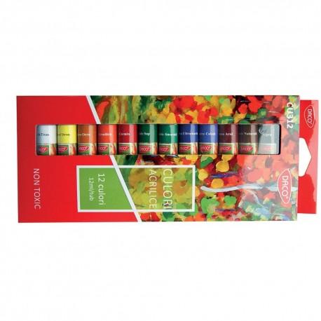 Culori acril 12 culori Daco
