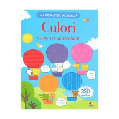 Culori. Carte cu autocolante