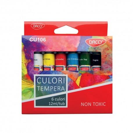 Culori tempera 6 culori Daco
