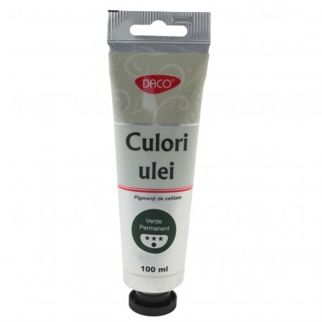 Culori ulei 100 ml Verde Permanent Daco