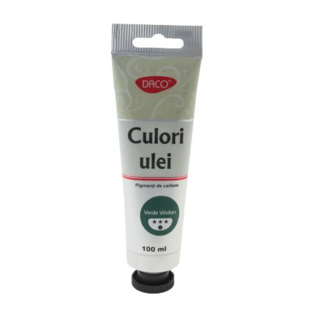 Culori ulei 100 ml Verde Viridian Daco