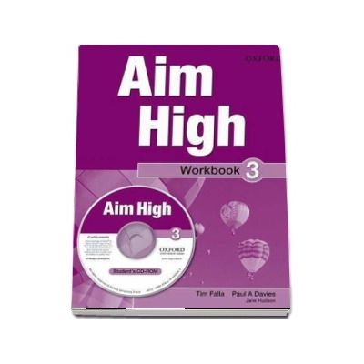 Curs de limba engleza Aim High 3 Wookbook and CD-Rom - Tim Falla