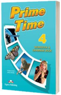 Curs de limba engleza Prime Time 4. Caiet si gramatica cu digibook app.