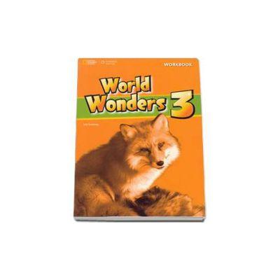 Curs de limba engleza World Wonders level 3 Workbook new editions, caietul elevului pentru clasa a VII-a (National Geographic Learning)