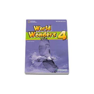 Curs de limba engleza World Wonders level 4 Workbook new editions, caietul elevului pentru clasa a VIII-a cu CD (National Geographic Learning)