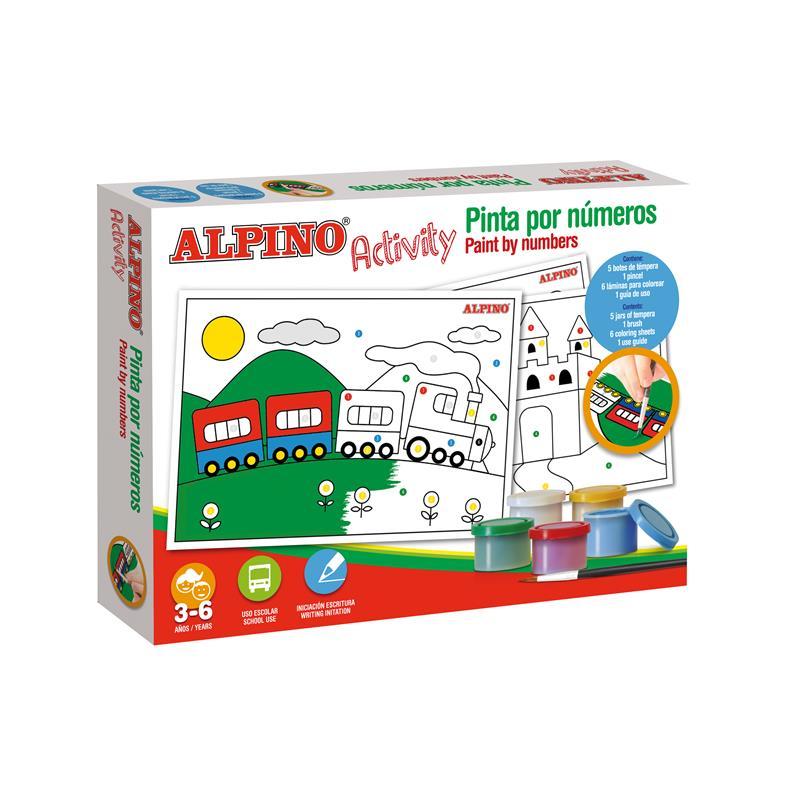 Cutie cu articole creative pentru copii paint by numbers, Alpino