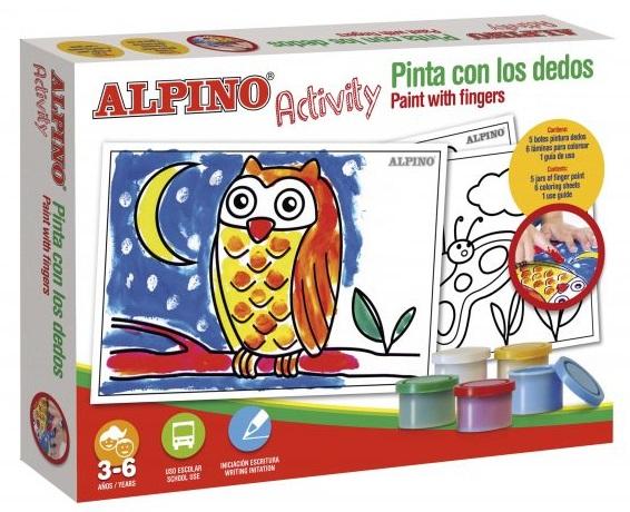 Cutie cu articole creative pentru copii paint with the finger, Alpino