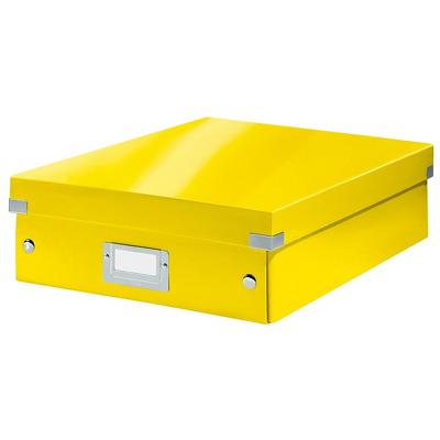 Cutie depozitare LEITZ WOW Click & Store Organizer, carton laminat, medie, galben