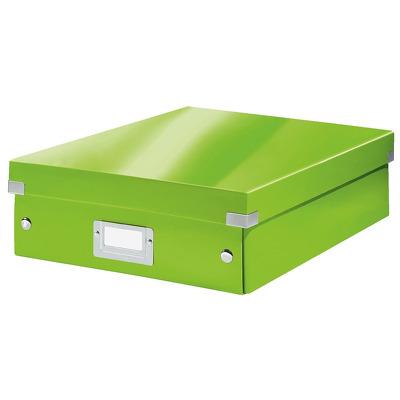 Cutie depozitare LEITZ WOW Click & Store Organizer, carton laminat, medie, verde