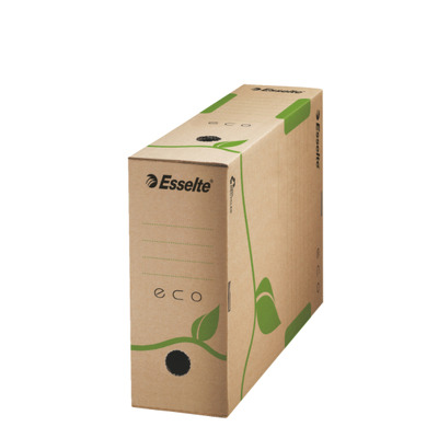 Cutie depozitare si arhivare ESSELTE Eco, carton, 100 mm, natur