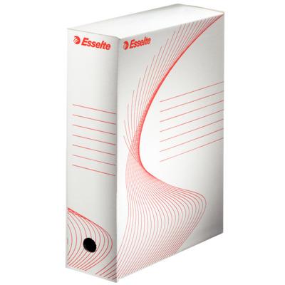 Cutie depozitare si arhivare ESSELTE Standard, carton, 100 mm, alb
