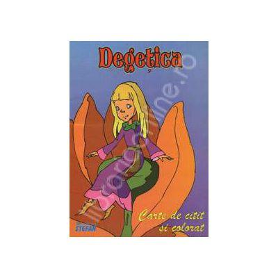 Degetica. Carte de  citit si colorat