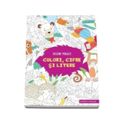 Desene magice. Culori, cifre si litere - Coloreaza si descopera ce se ascunde in fiecare desen
