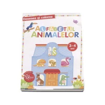 Desenez si colorez - Alfabetul animalelor, 3-4 ani (Colectia Copilul Destept)