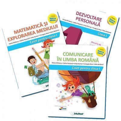 Set de 3 caiete pentru clasa I - Intuitex