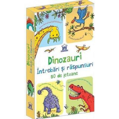 Dinozauri - Intrebari si raspunsuri (Contine 50 de Jetoane)