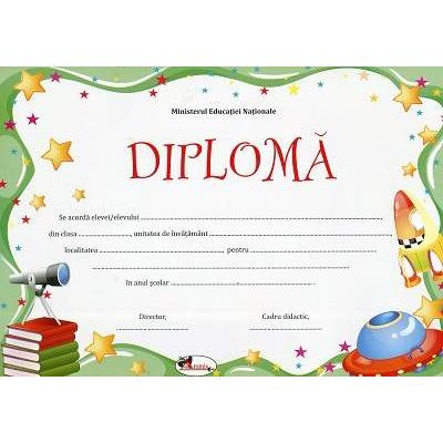 Diploma - Format A4, model imagine telescop