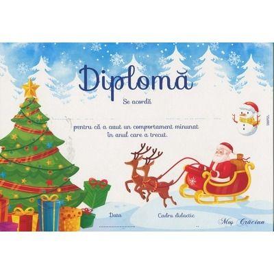 Diploma, model Mos Craciun