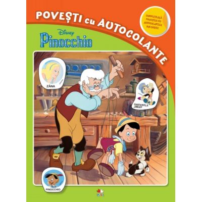 Disney. Pinocchio. Povesti cu autocolante