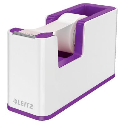 Dispenser banda adeziva LEITZ WOW, PS, banda inclusa, culori duale, alb-mov