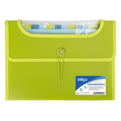 Dosar Plastic Extensibil A4 12 Compartimente Verde