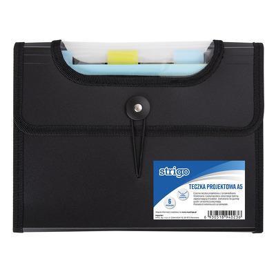 Dosar Plastic Extensibil A5 6 Compartimente Negru