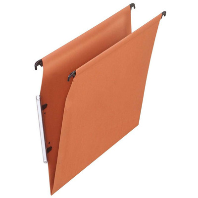 Dosar suspendabil cu eticheta laterala, carton 220g/mp, Defi Flex - kraft orange