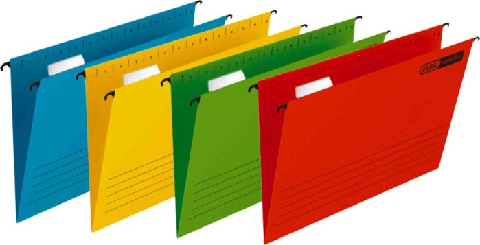 Dosar suspendabil cu eticheta, bagheta metalica, carton 230g/mp, Verticflex - albastru
