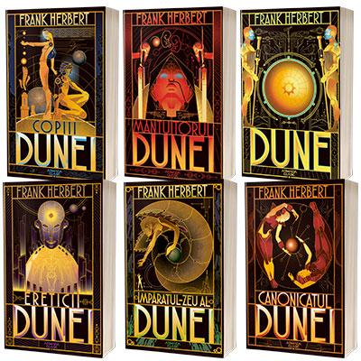 Serie de autor Frank Herbert, compusa din 6 carti