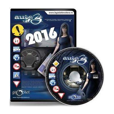 DVD, Auto B+ V.3 - Software pentru obtinerea permisului de conducere auto categoria B - Editie actualizata 2016