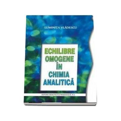 Echilibre omogene in chimia analitica, editia a 2-a - Luminita Vladescu