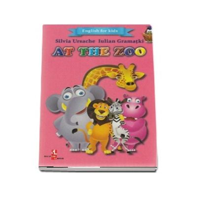 English for kids - At the zoo (Contine 16 cartonase cu imagini color)