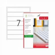 Etichete albe autoadezive, repozitionabile, 7/A4, 192.5 x 39mm, 25 coli/top, colturi rotunjit