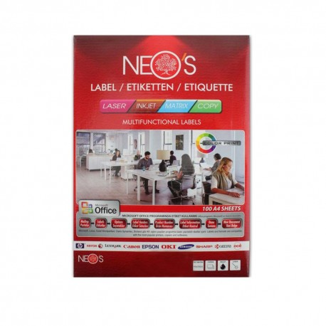 Etichete autoadezive A4 2/coala-orizontale 100 coli/top Neos