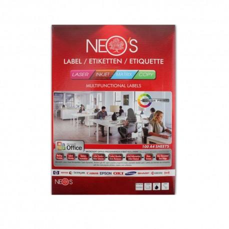 Etichete autoadezive A4 24/coala-buline 100 coli/top Neos