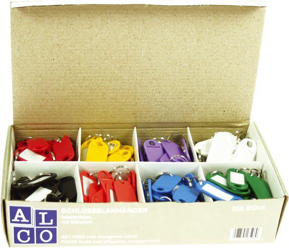 Etichete pentru chei, 200/cutie,  ALCO - culori asortate