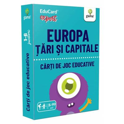 Europa. Tari si capitale (Carti de joc educative)