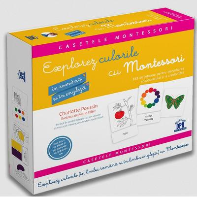 Explorez culorile cu Montessori - In Romana si in Engleza - 163 de jetoane