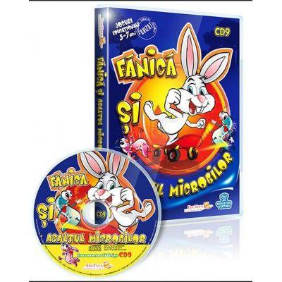 Fanica si Asaltul Microbilor. Jocuri educationale 3-7 ani CD 9 (Seria Prietenii sanatatii)