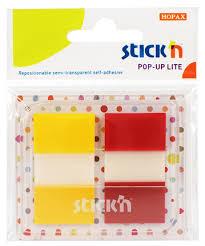 Film index autoadeziv 45 x 25mm, 2 x 20 file, cu dispenser, Stick Pop-up Lite - 2 culori trans/neo