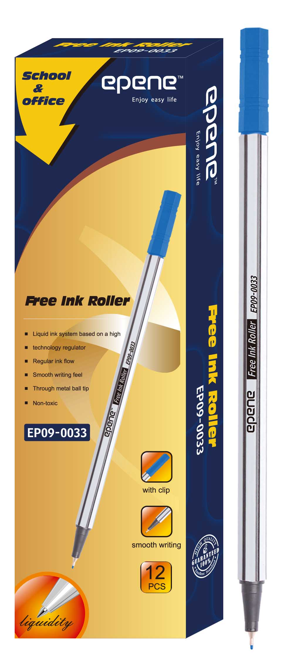 Fine Liner 0.4 mm, EPENE - albastru
