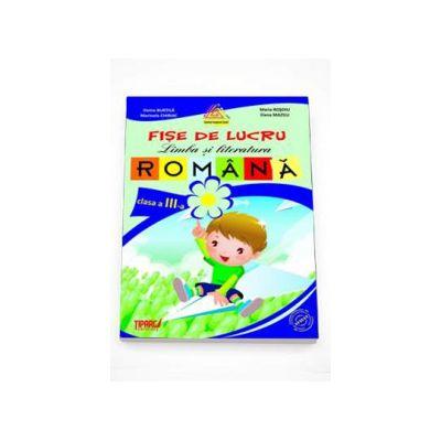 Fise de lucru limba si literatura romana auxiliar pentru clasa a III-a ( Colectia Campionii Scolii ) Mov