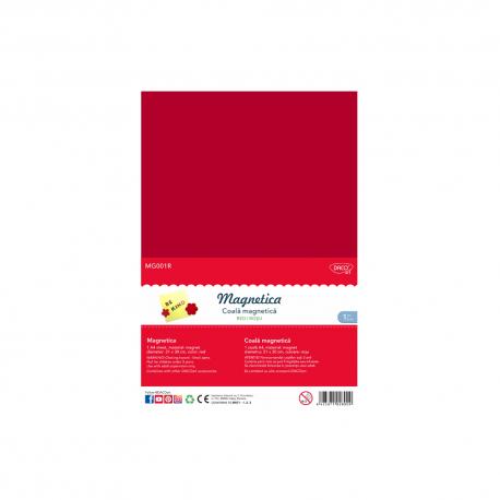 Folie magnetica A4 rosu Daco