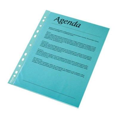 Folie protectie color pentru documente, 10 folii/set, Esselte - albastru transparent