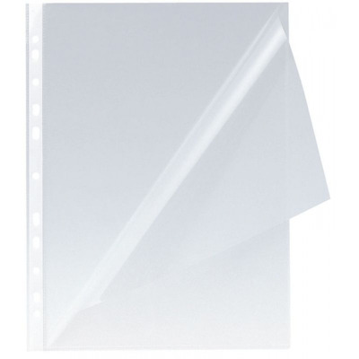 Folie protectie L pentru documente A4, 150 microni, 100 buc/set, Q-Connect - cristal