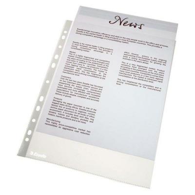 Folie protectie pentru documente,  46 microni, 100buc/set, Esselte - transparent