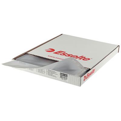 Folie protectie pentru documente,  55 microni, 100folii/cutie, Esselte - cristal