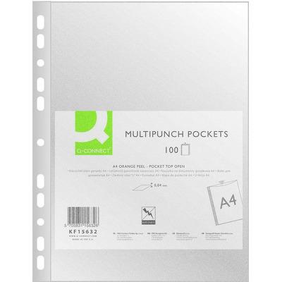 Folie protectie pentru documente A4, 40 microni, 100folii/set, Q-Connect - transparenta