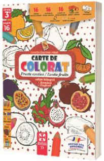 Fructe exotice, carte de colorat
