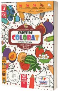 Fructe/Fruits, carte de colorat